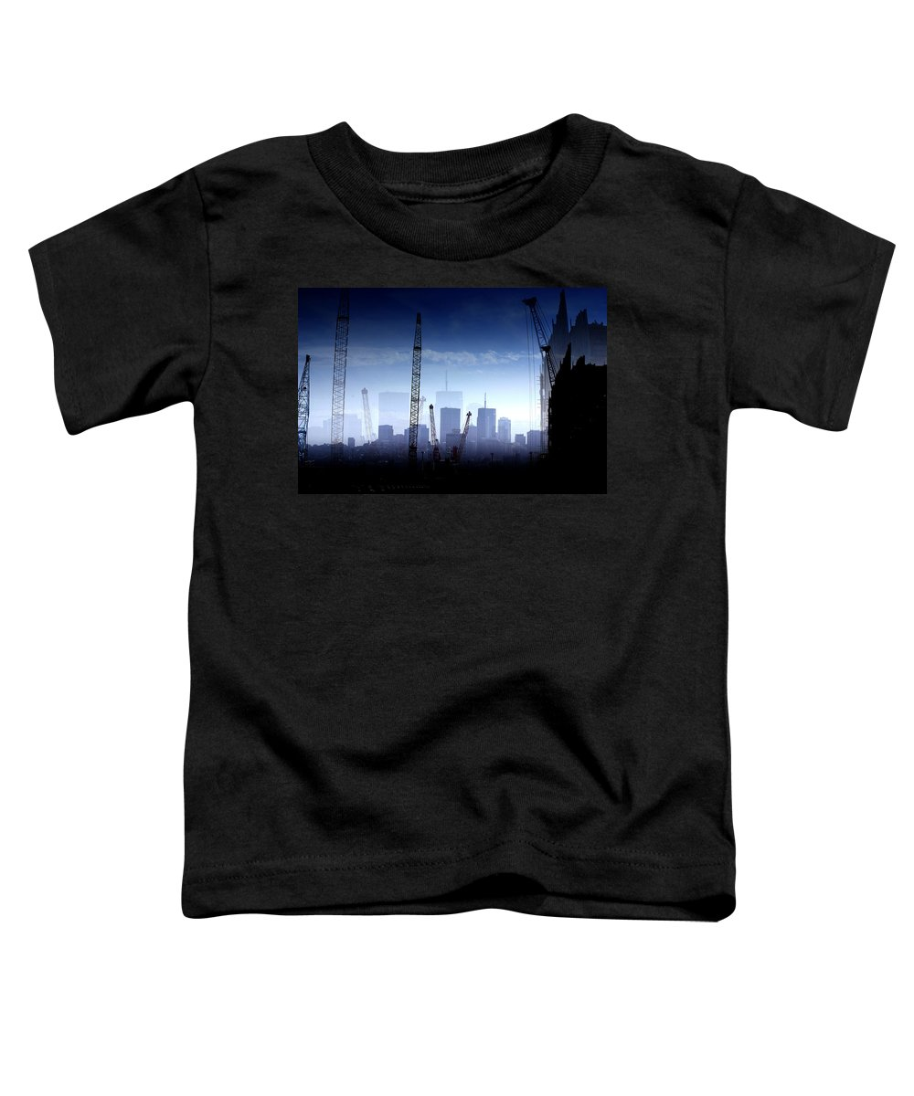 Landscape Toddler T-Shirt featuring the photograph Growth in the City by Holly Kempe
