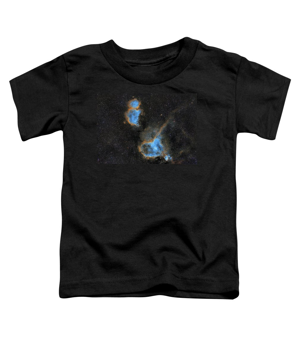 Nebula Toddler T-Shirt featuring the photograph Heart and Soul Nebula by Prabhu Astrophotography