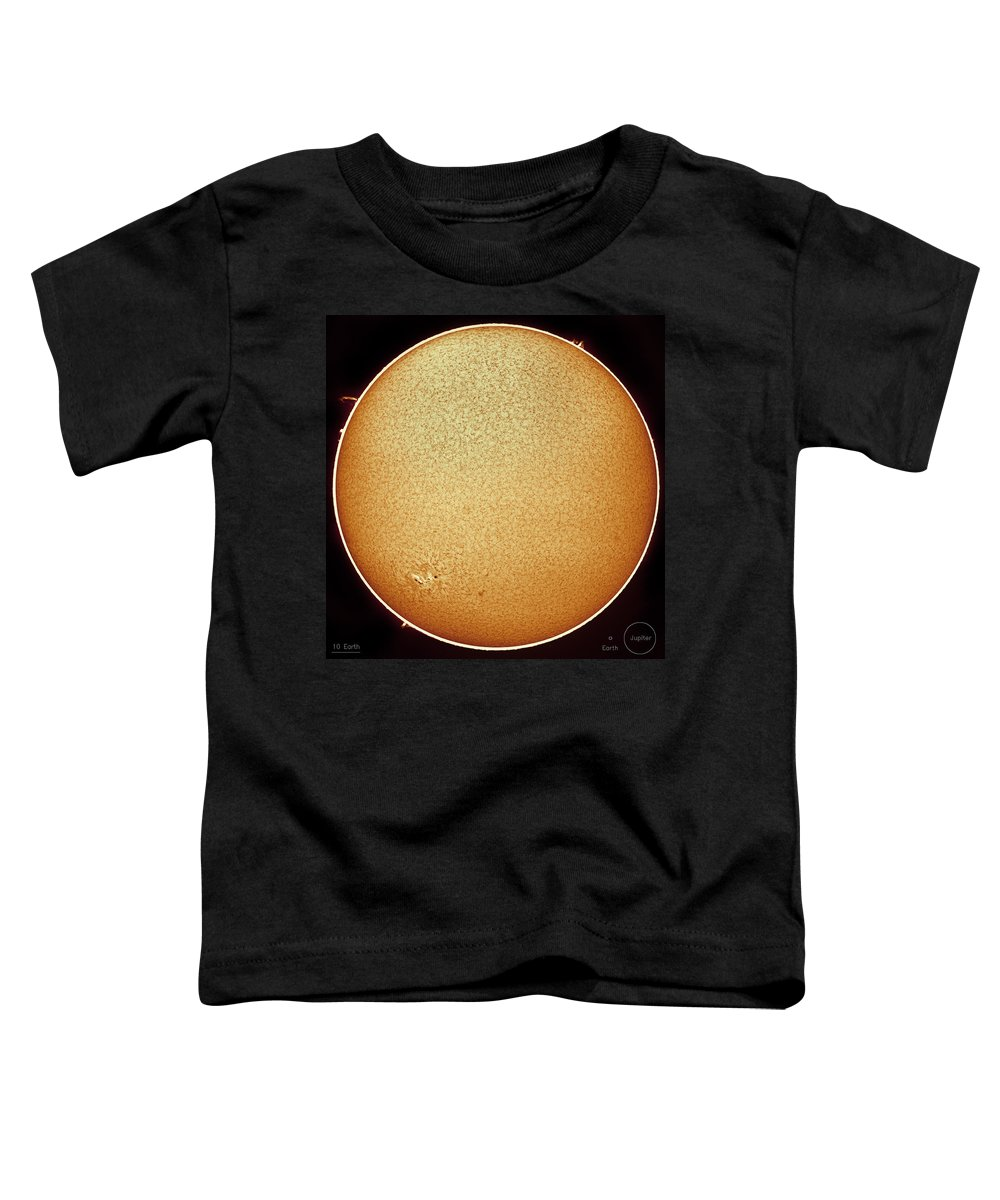 Sun Toddler T-Shirt featuring the photograph The Fiery Sun by Prabhu Astrophotography