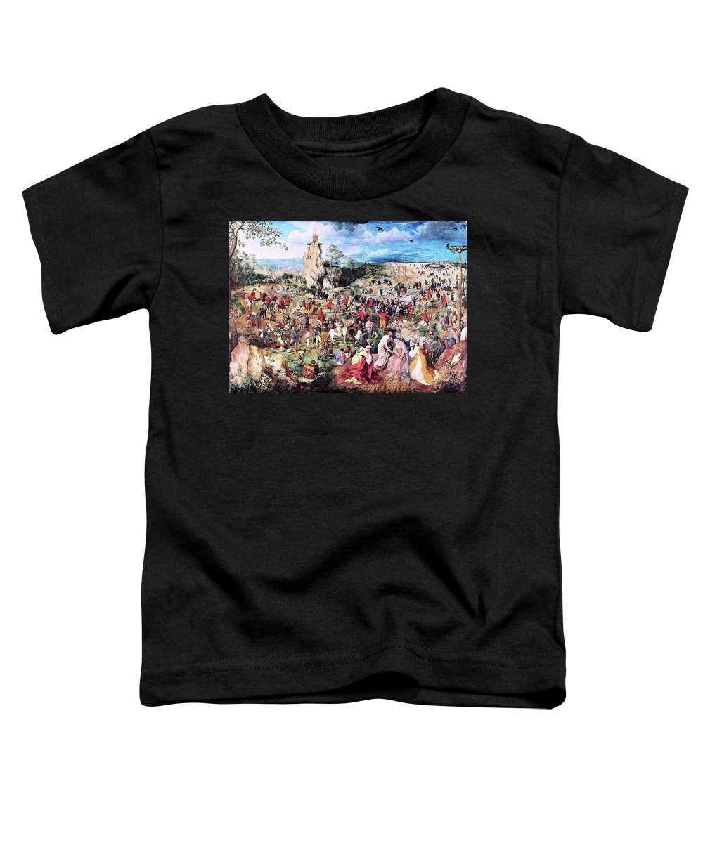 The Procession To Calvary Toddler T-Shirt featuring the painting The Procession To Calvary - Digital Remastered Edition by Pieter Bruegel
