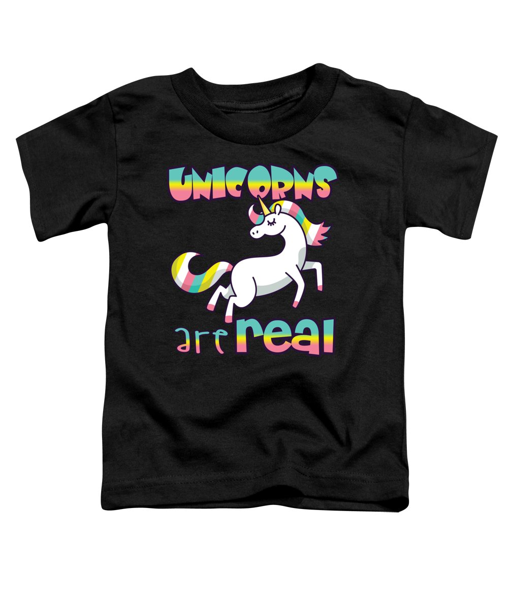 Unicorn Gifts Toddler T-Shirt featuring the digital art Unicorns Are Real by Passion Loft