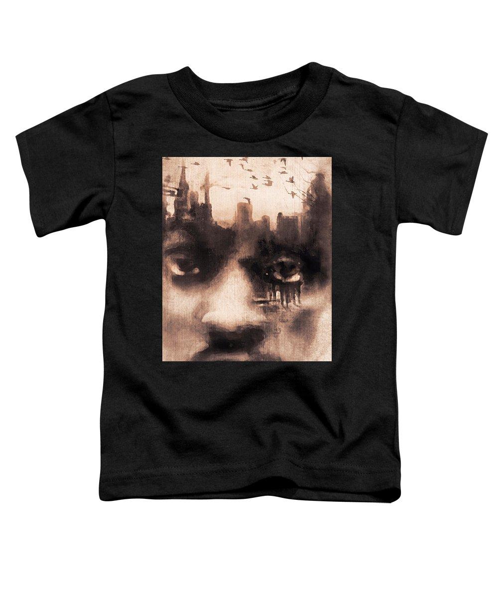 Digital Image Toddler T-Shirt featuring the digital art Urban Mindset by Regina Wyatt