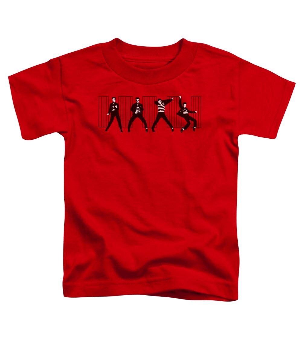 Elvis Toddler T-Shirt featuring the digital art Elvis - Jailhouse Rock by Brand A