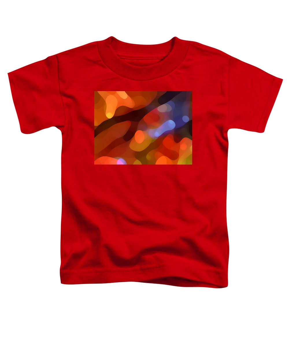 Abstract Art Toddler T-Shirt featuring the painting Abstract Fall Light by Amy Vangsgard