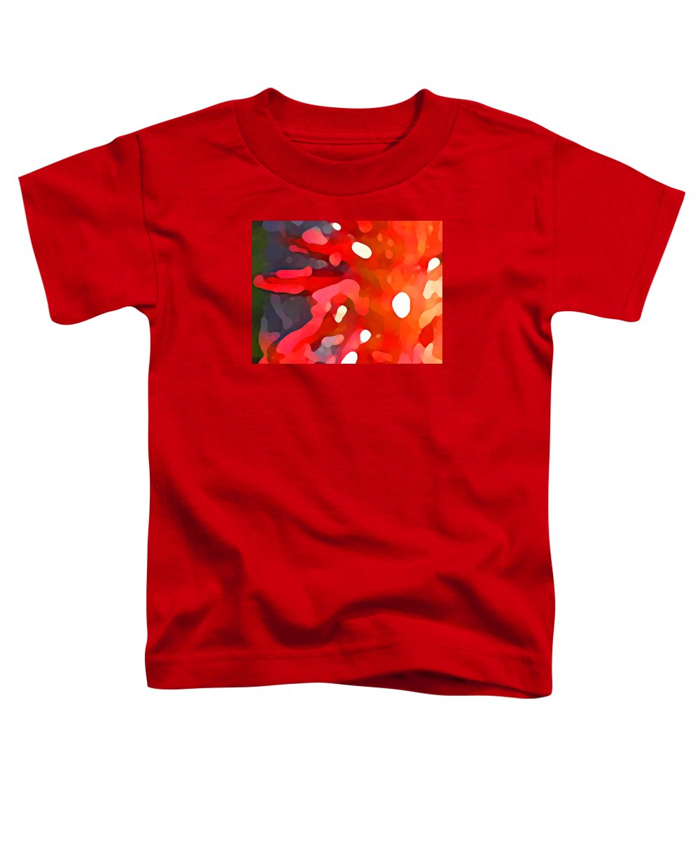 Bold Toddler T-Shirt featuring the painting Abstract Red Sun by Amy Vangsgard