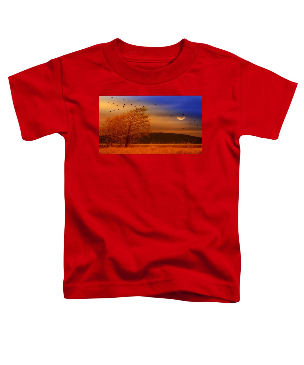 Landscape Toddler T-Shirt featuring the photograph Against The Wind by Holly Kempe