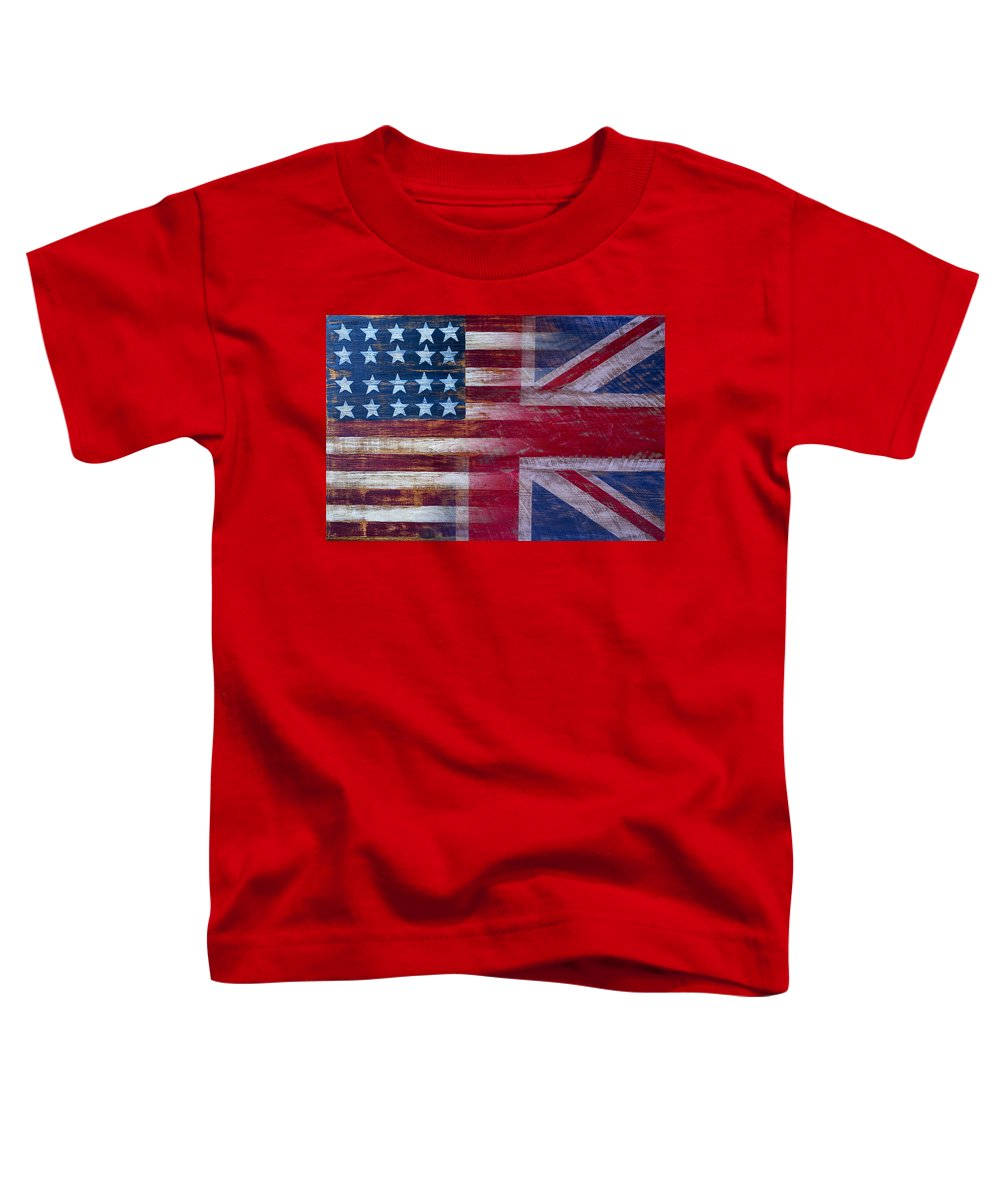 American Toddler T-Shirt featuring the photograph American British Flag by Garry Gay