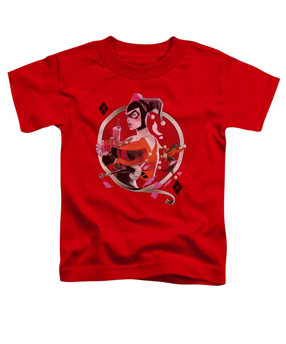 Batman Toddler T-Shirt featuring the digital art Batman - Harley Q by Brand A