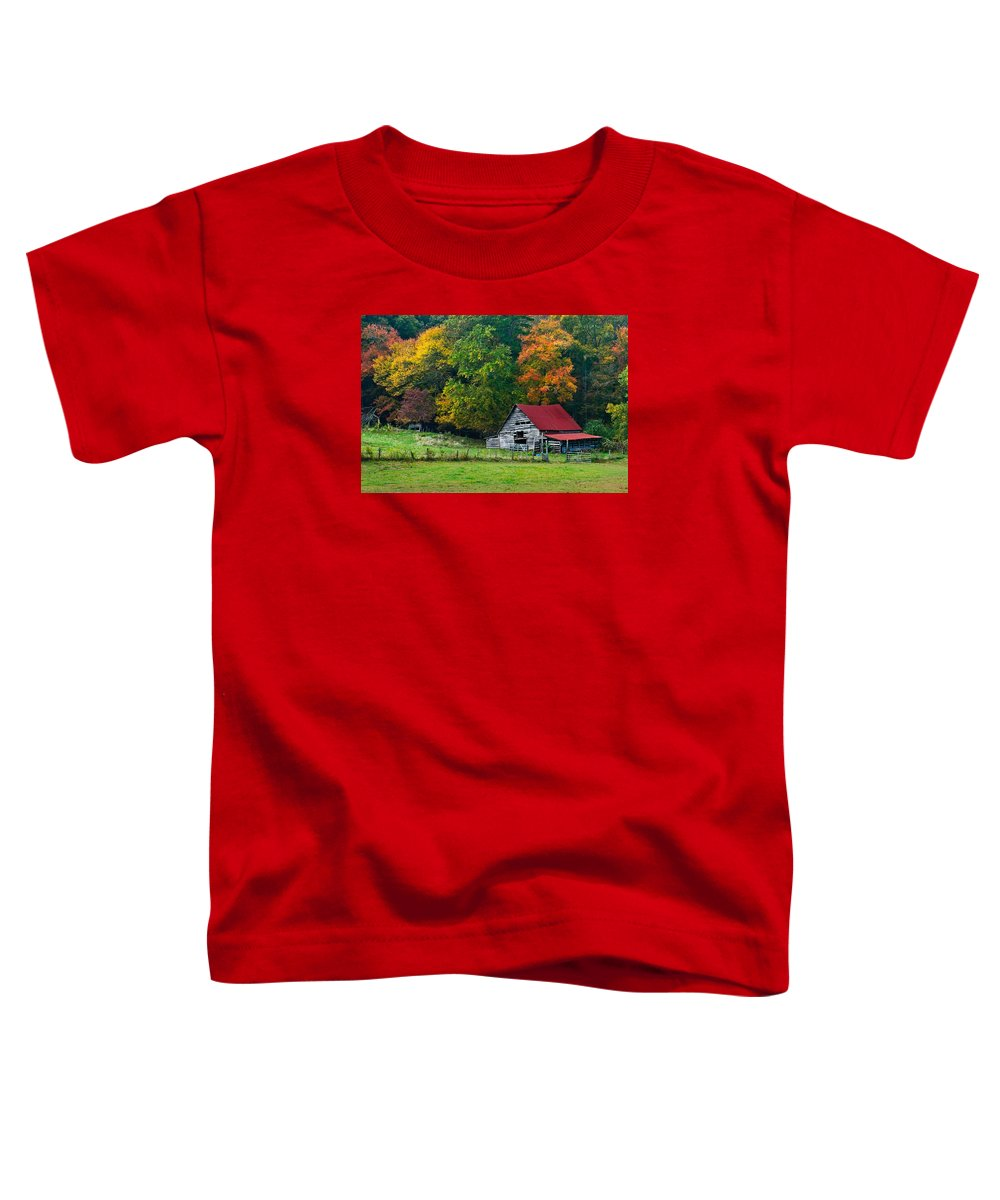 Appalachia Toddler T-Shirt featuring the photograph Candy Mountain by Debra and Dave Vanderlaan