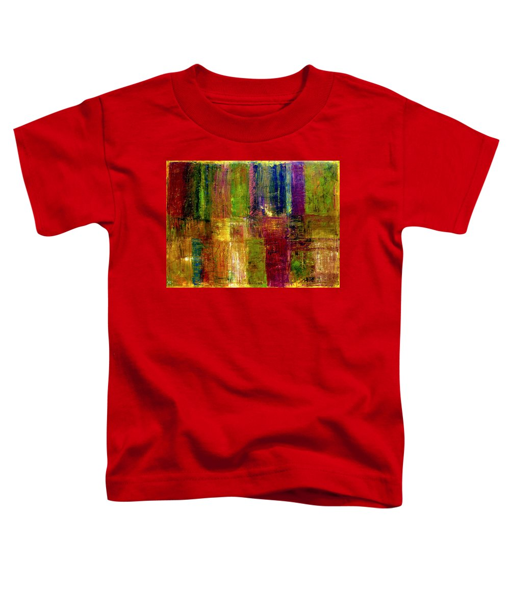 Abstract Toddler T-Shirt featuring the painting Color Panel Abstract by Michelle Calkins