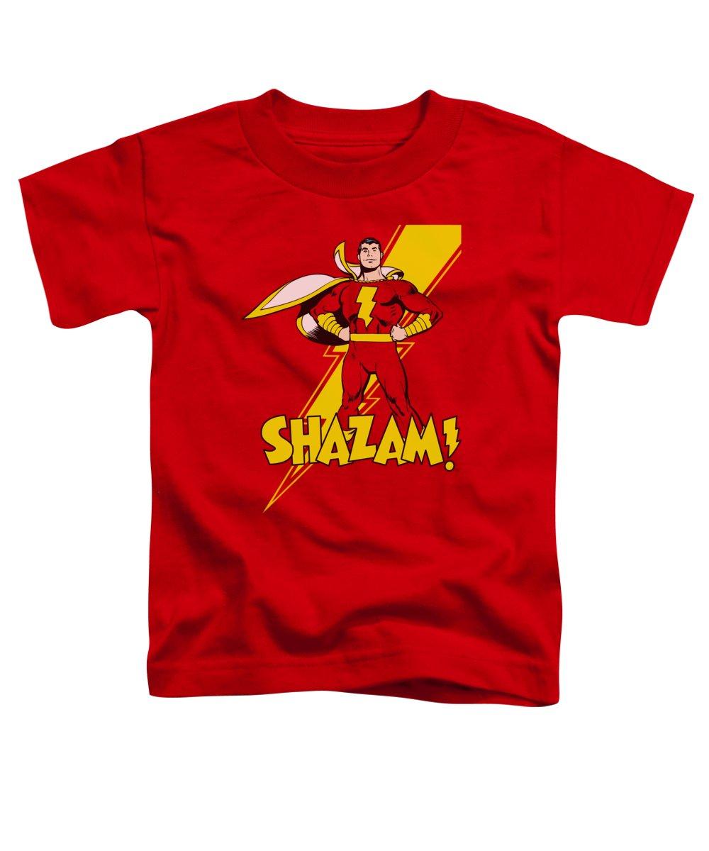 Dc Comics Toddler T-Shirt featuring the digital art Dc - Shazam! by Brand A