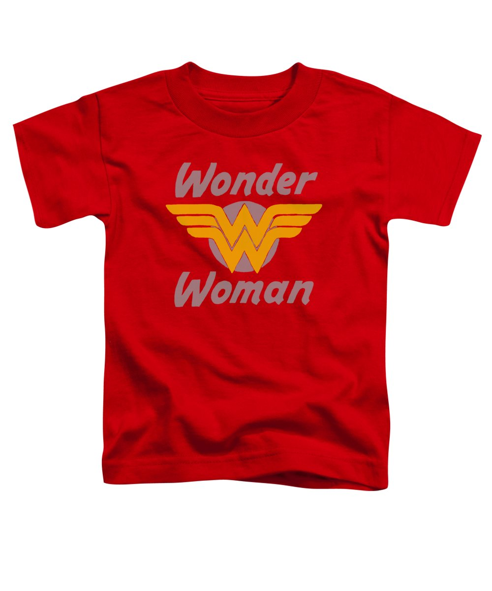 Dc Comics Toddler T-Shirt featuring the digital art Dc - Wonder Wings by Brand A
