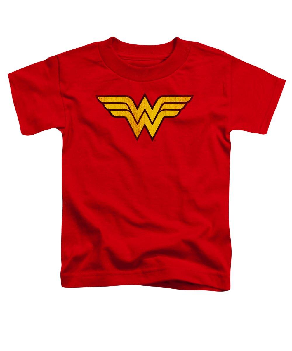 Dc Comics Toddler T-Shirt featuring the digital art Dc - Wonder Woman Logo Dist by Brand A