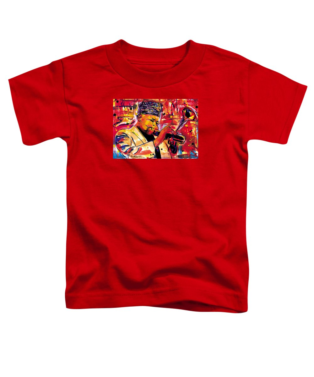 Dizzy Gillespie Toddler T-Shirt featuring the painting Dizzy Gillespie by Everett Spruill
