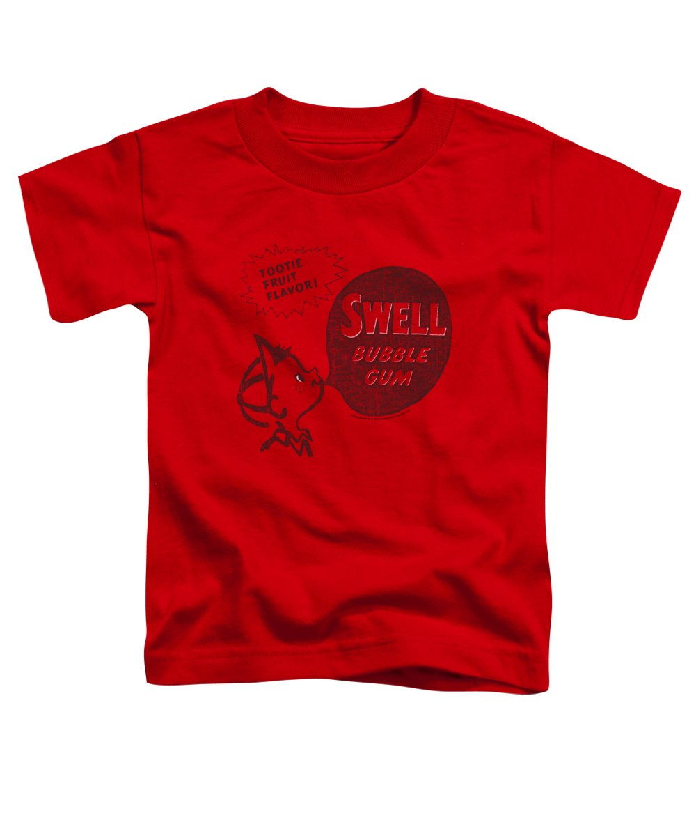Dubble Bubble Toddler T-Shirt featuring the digital art Dubble Bubble - Swell Gum by Brand A