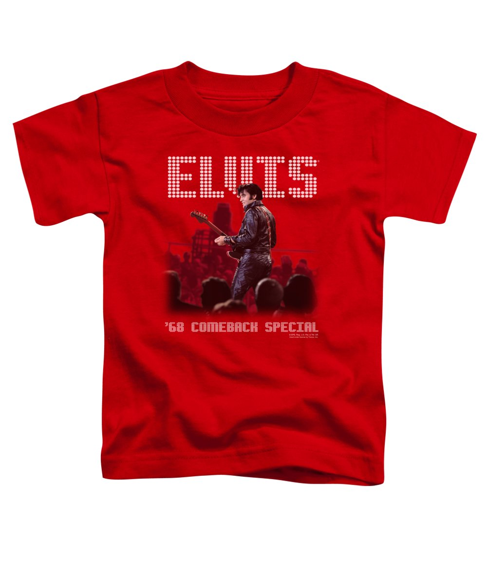 Elvis Toddler T-Shirt featuring the digital art Elvis - Return Of The King by Brand A