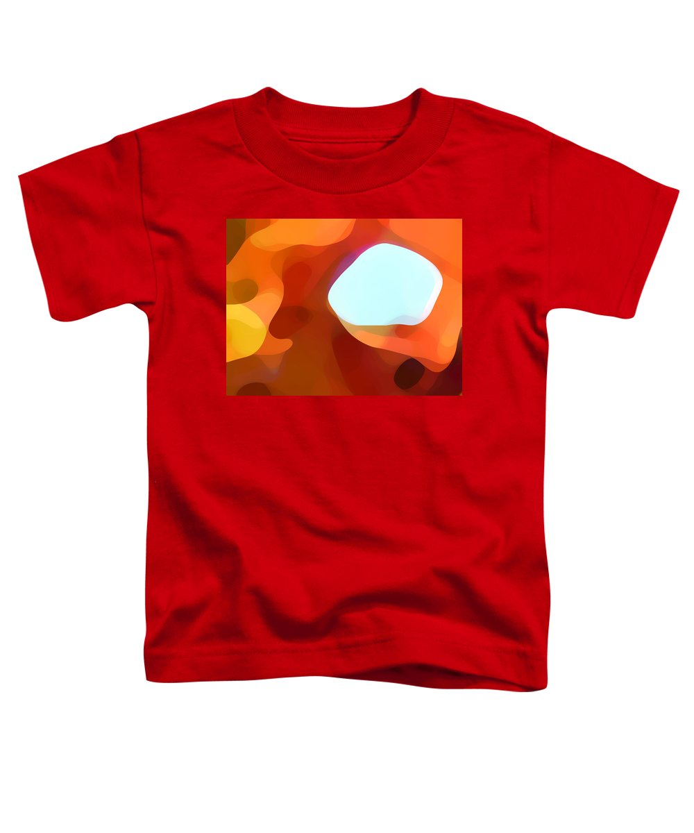 Abstract Toddler T-Shirt featuring the painting Fall Passage by Amy Vangsgard