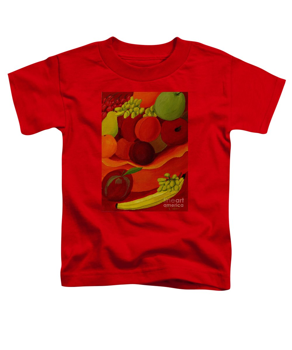 Fruit Toddler T-Shirt featuring the painting Fruit-still Life by Anthony Dunphy