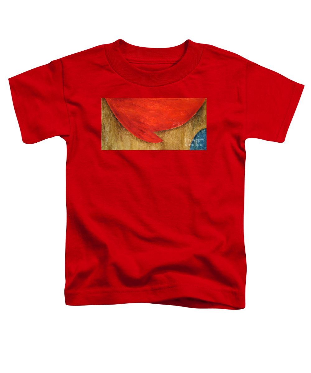 Abstract Toddler T-Shirt featuring the painting Hot Spot by Silvana Abel