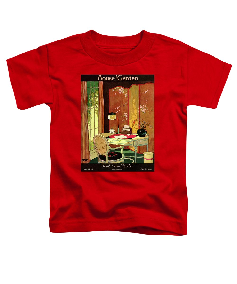 House And Garden Toddler T-Shirt featuring the photograph House And Garden Small House Number by Clayton Knight