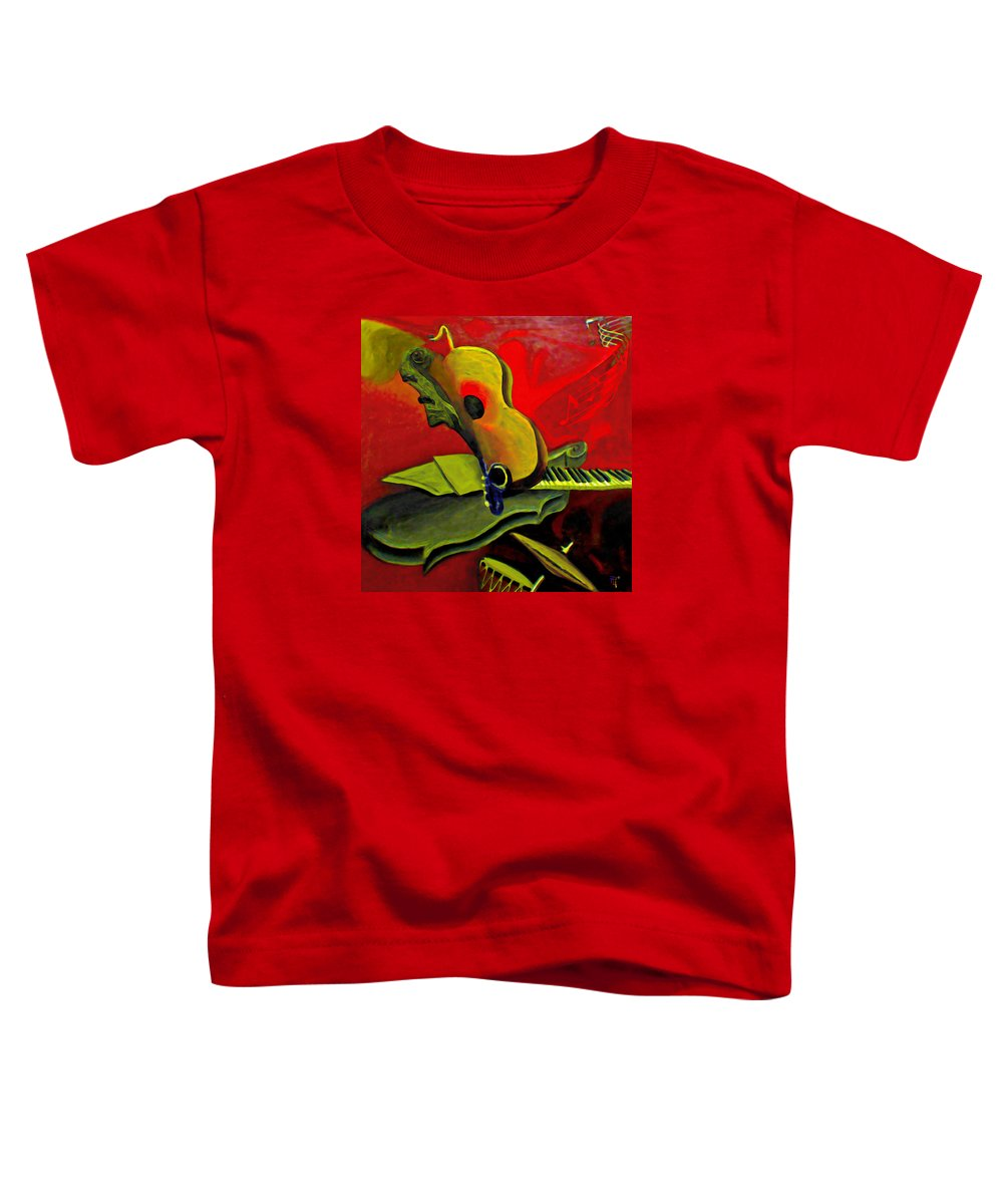 Abstract Toddler T-Shirt featuring the painting Jazz Infusion by Fli Art