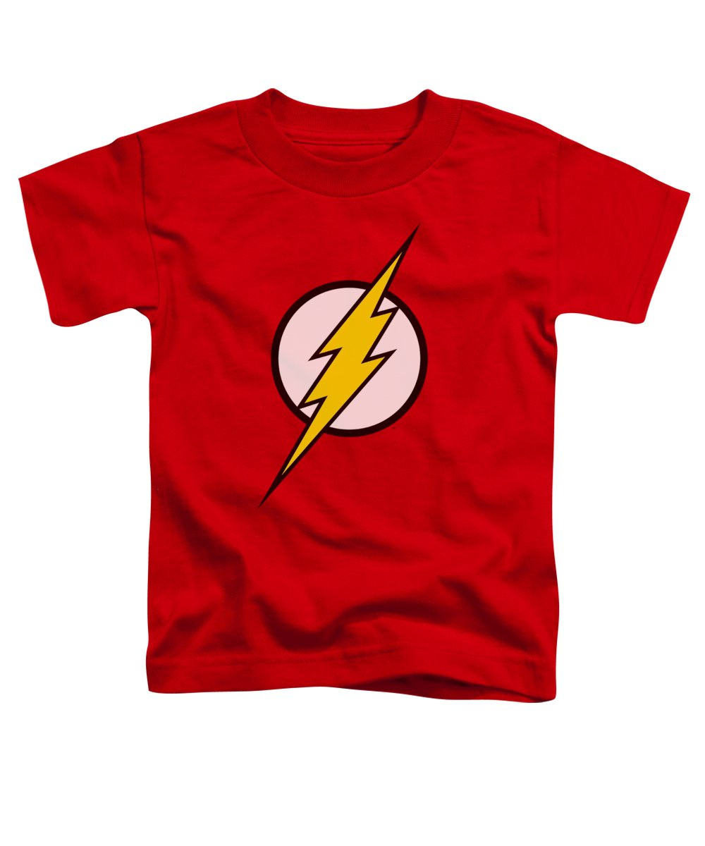 Justice League Of America Toddler T-Shirt featuring the digital art Jla - Flash Logo by Brand A