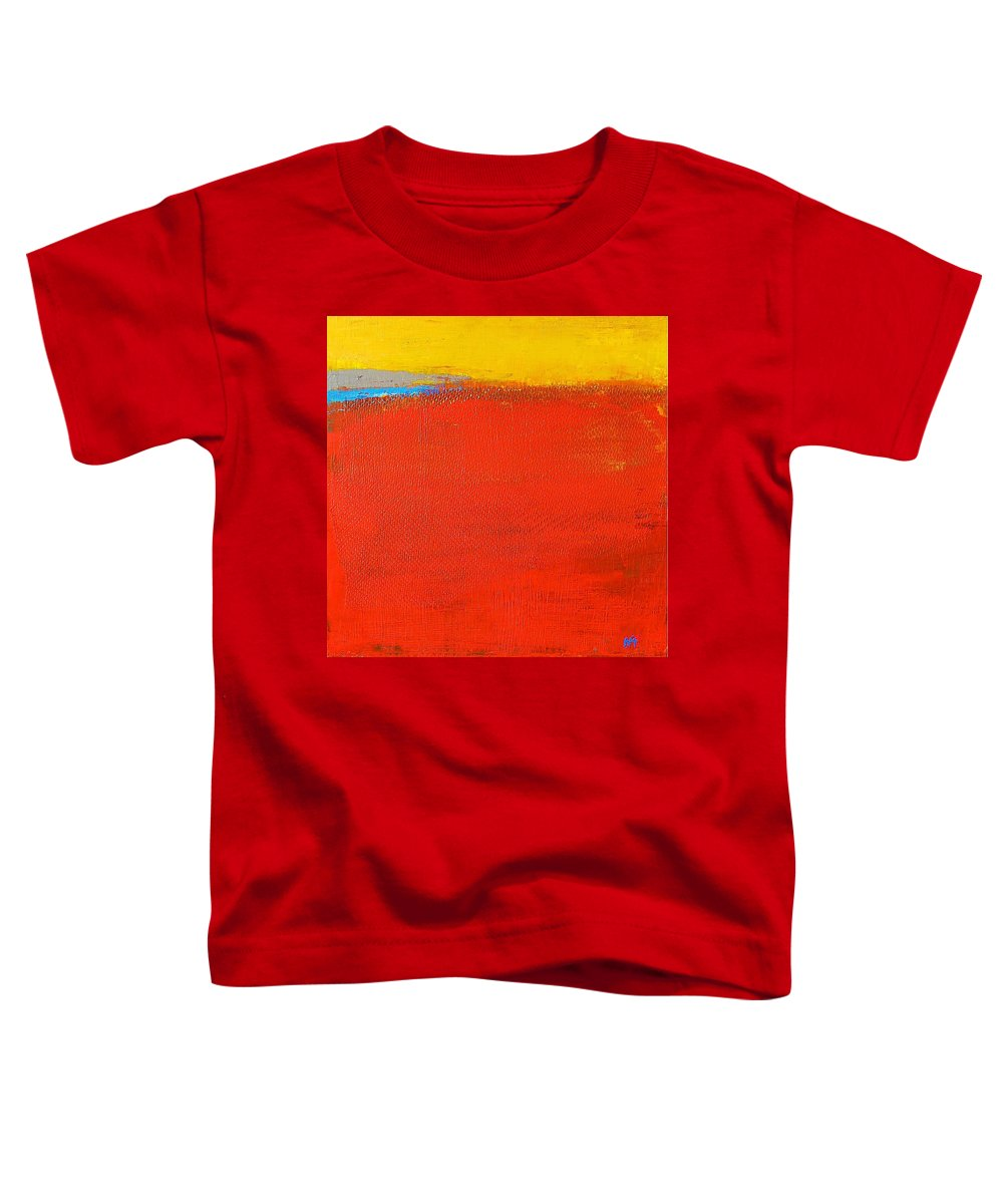Landscape Toddler T-Shirt featuring the painting Nature Rouge by Habib Ayat