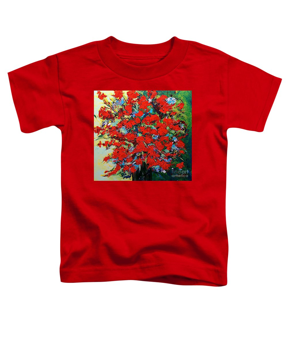 Landscape Toddler T-Shirt featuring the painting One Of A Kind by Allan P Friedlander