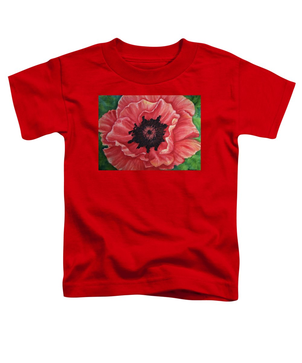 Poppy Toddler T-Shirt featuring the painting Poppy by Conni Reinecke