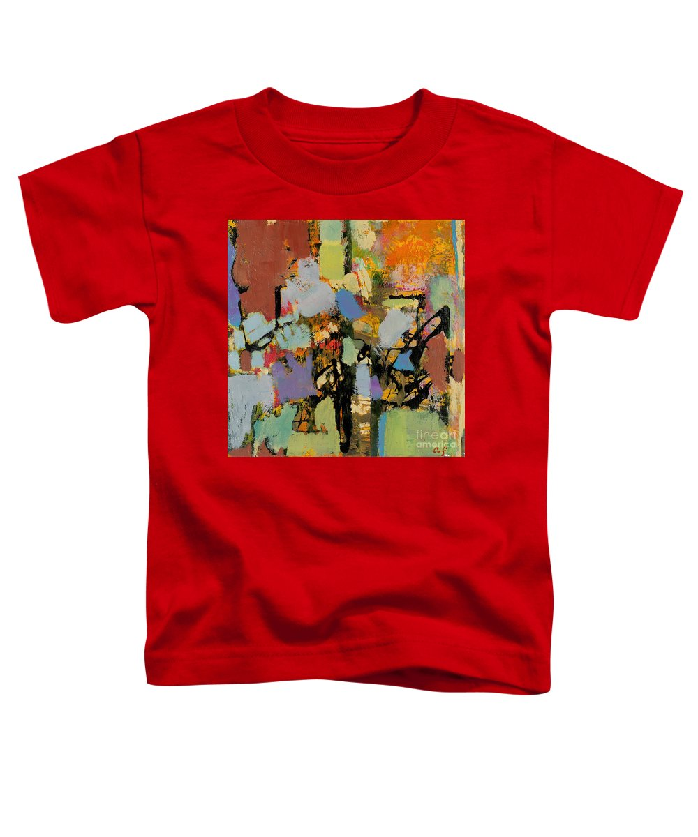 Landscape Toddler T-Shirt featuring the painting Quick Racing by Allan P Friedlander