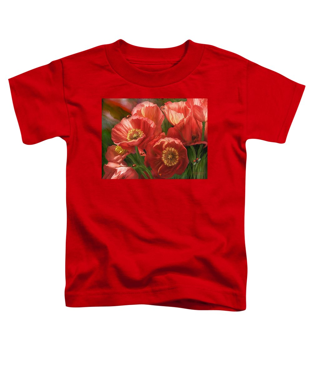 Red Poppy Toddler T-Shirts