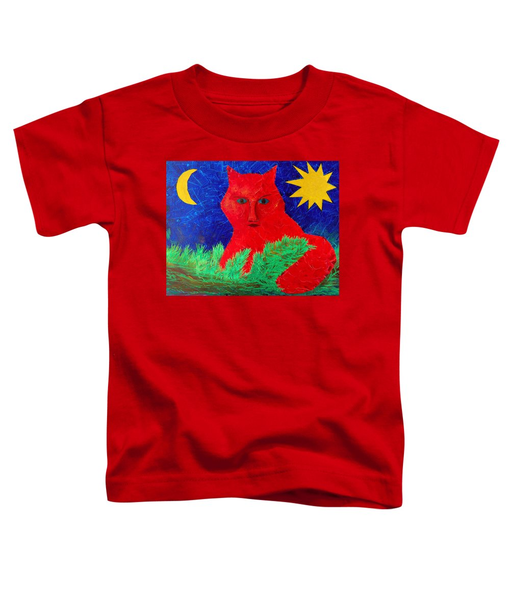 Fantasy Toddler T-Shirt featuring the painting Red by Sergey Bezhinets