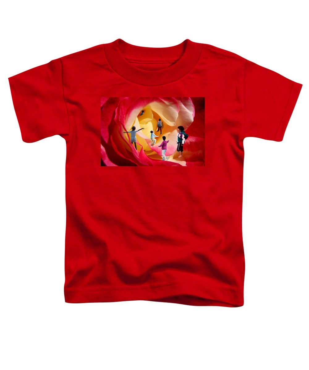 Rose Toddler T-Shirt featuring the digital art Rose Labyrinth by Lisa Yount