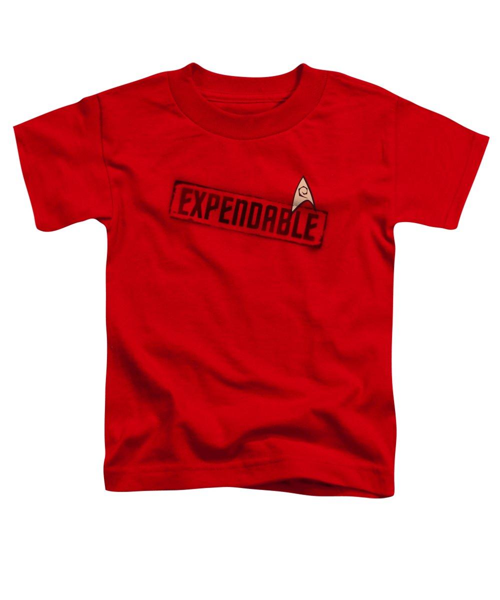 Star Trek Toddler T-Shirt featuring the digital art Star Trek - Expendable by Brand A