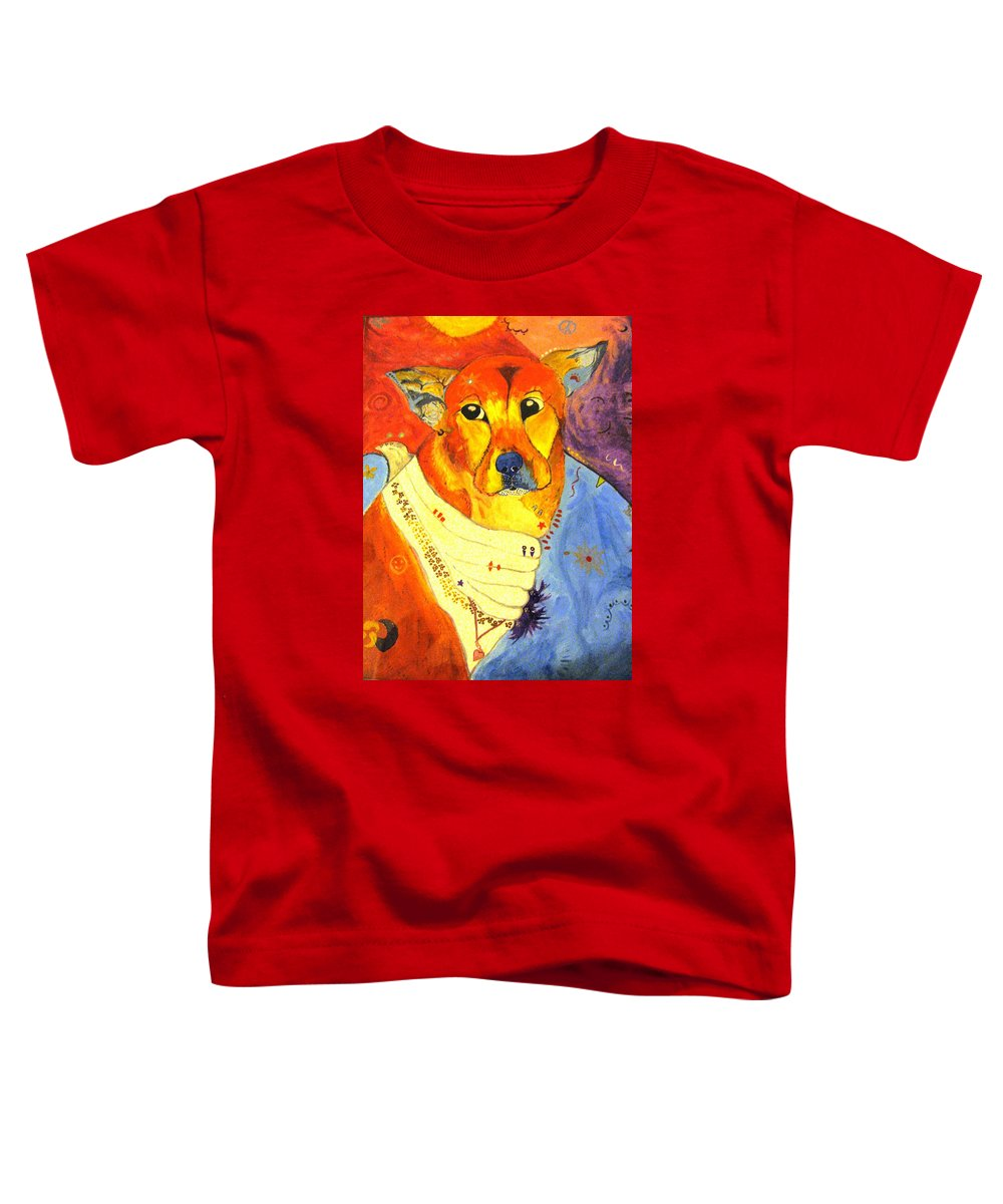 The Heart That Rescues Toddler T-Shirt featuring the painting The Heart That Rescues by Michelle Reid