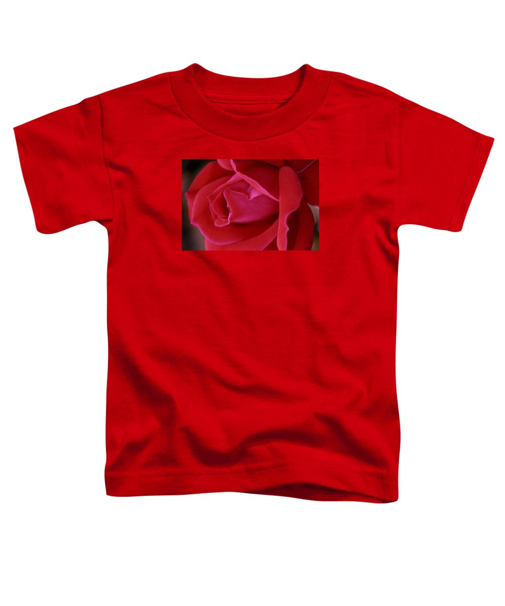 Rose Toddler T-Shirt featuring the photograph Unfolding Glory by Mary Beglau Wykes