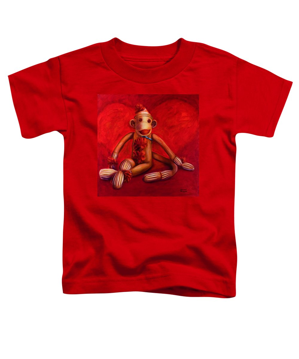Children Toddler T-Shirt featuring the painting Valentine by Shannon Grissom