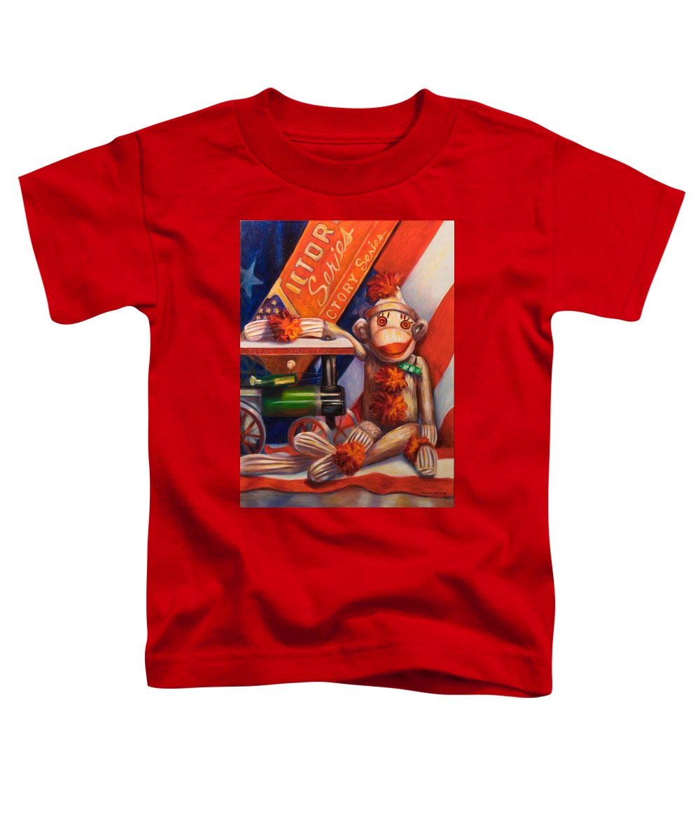 4th Of July Toddler T-Shirt featuring the painting Victory by Shannon Grissom