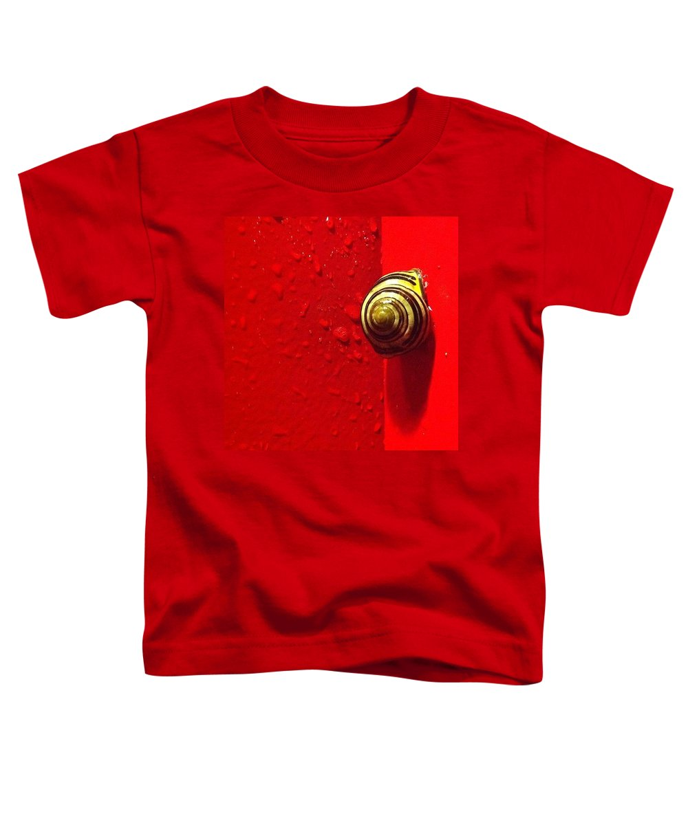 Nofilter Toddler T-Shirt featuring the photograph Never A Shortage Of #snails Back Here by Katie Cupcakes