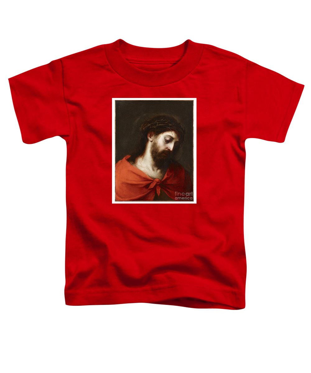 Bartolome Esteban Murillo Toddler T-Shirt featuring the painting Jesus Christ by Celestial Images