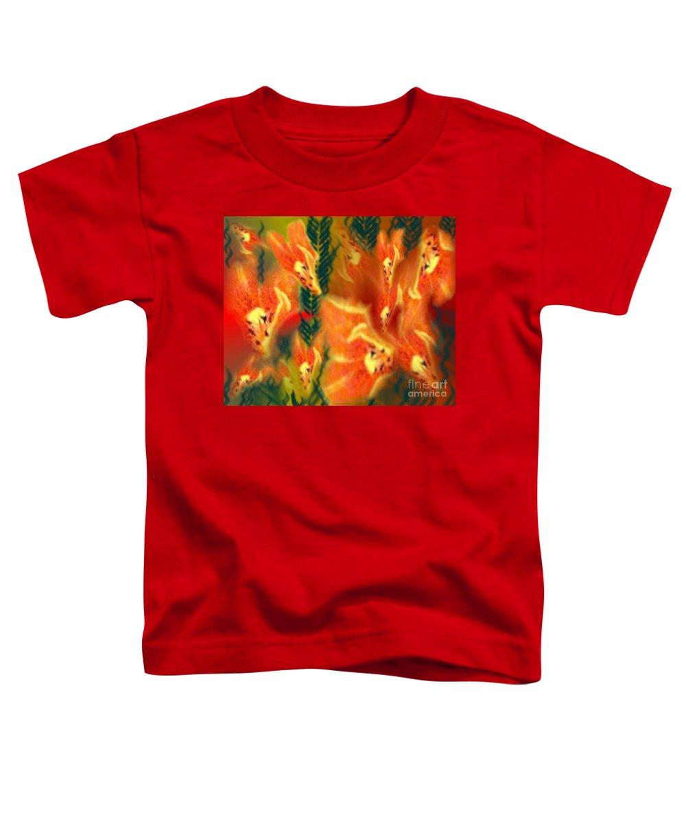 Florals Toddler T-Shirt featuring the digital art Symphonic Dance by Brenda L Spencer