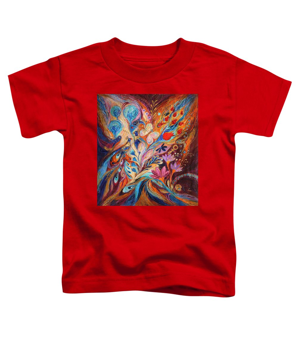 Modern Jewish Art Toddler T-Shirt featuring the painting Foreboding Storm by Elena Kotliarker