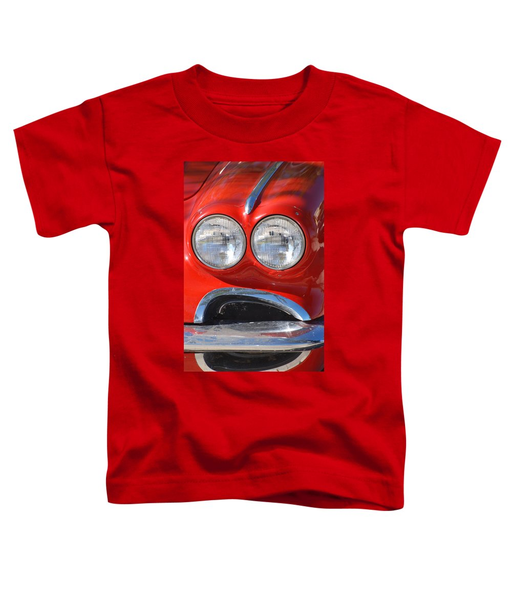 Corvette Toddler T-Shirt featuring the photograph Little Red Corvette by Rob Hans