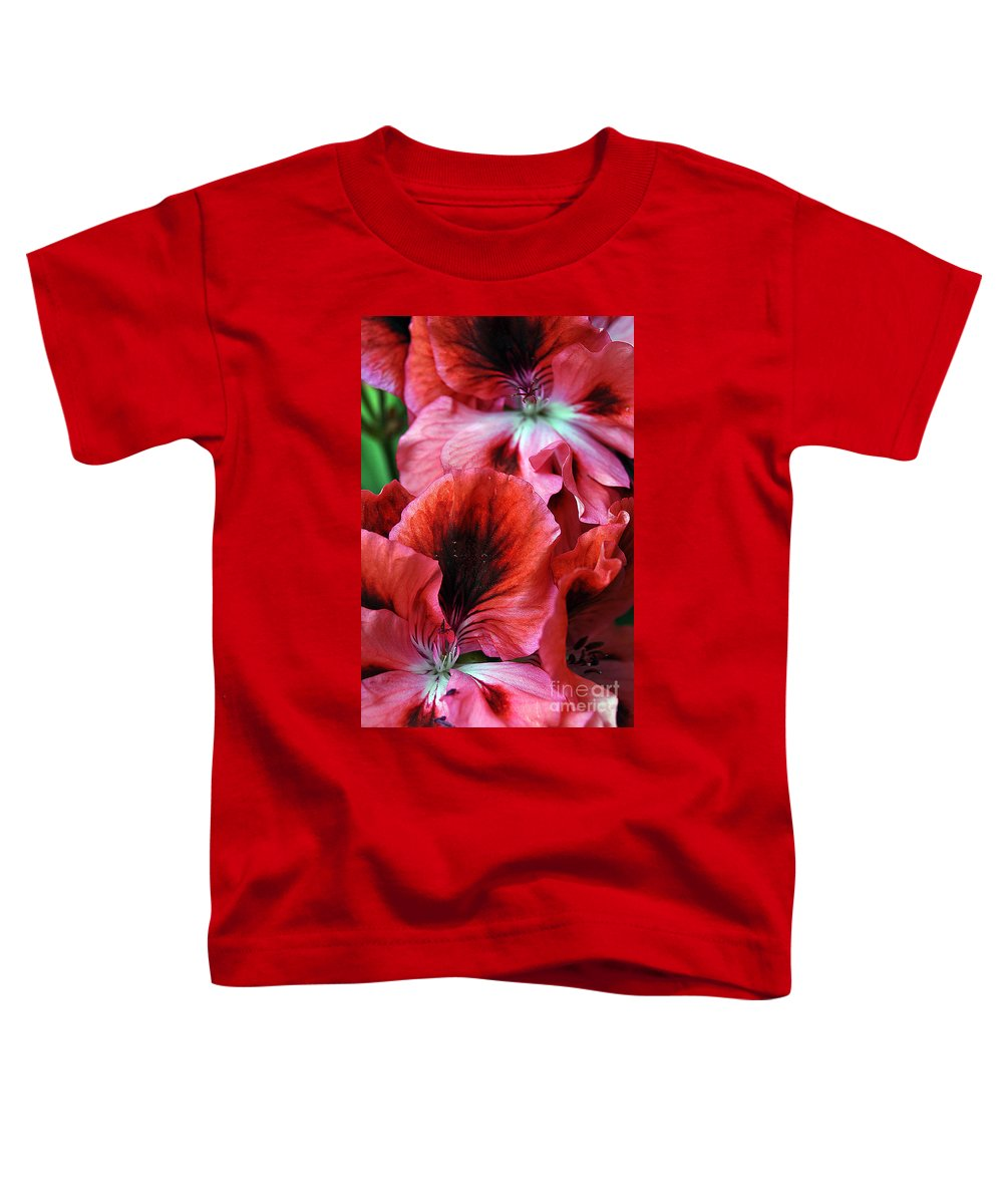 Clay Toddler T-Shirt featuring the photograph Red Floral by Clayton Bruster