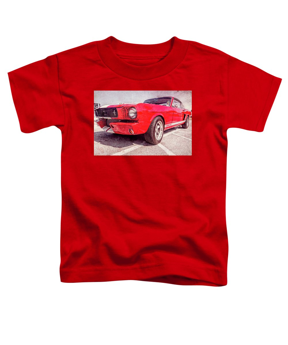 Mustang Toddler T-Shirt featuring the digital art 1965 Mustang Gt250 by Timothy Rohman