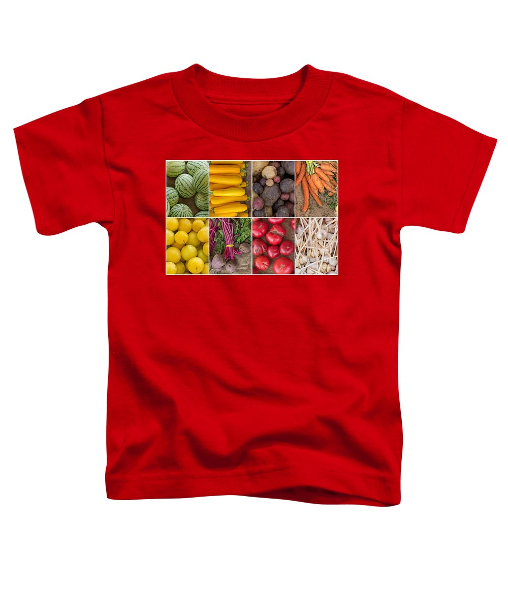 Fruits Toddler T-Shirt featuring the photograph Fruit And Vegetable Collage by Ezume Images