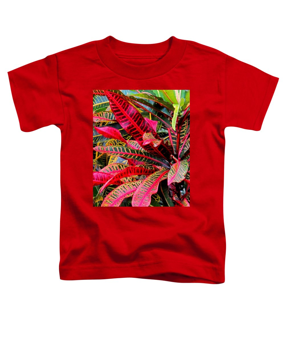 Red Toddler T-Shirt featuring the photograph A Rich Composition by Ian MacDonald