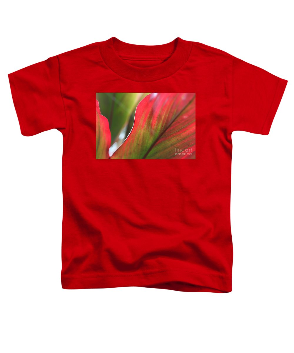 Pink Toddler T-Shirt featuring the photograph Abstract Leaves by Nadine Rippelmeyer
