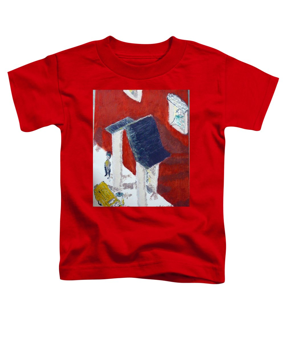 Social Realiism Toddler T-Shirt featuring the painting Accessories by R B