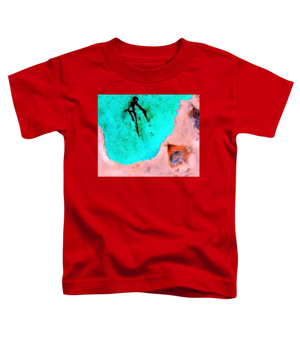 Spirit Afterlife Innerself Soul Fly Toddler T-Shirt featuring the painting And The Spirit Moved by Veronica Jackson